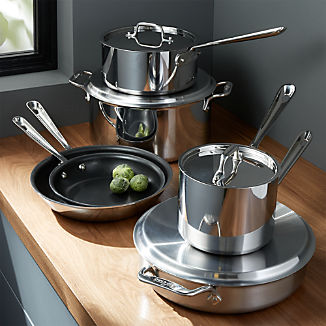 8af593868d533 All-Clad ® d3 Stainless Steel Non-Stick 10-Piece Cookware Set with