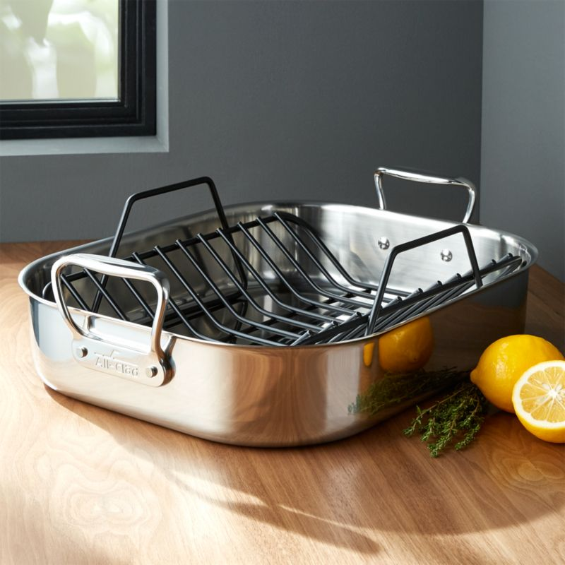 All Clad Stainless Steel Roasting Pan Reviews Crate