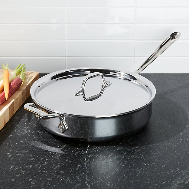 All Clad 174 Stainless Steel 3 Qt Saute Pan With Lid