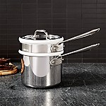 All-Clad © d3 Stainless Steel 2-Qt. Sauce Pan with Double Boiler and Lid
