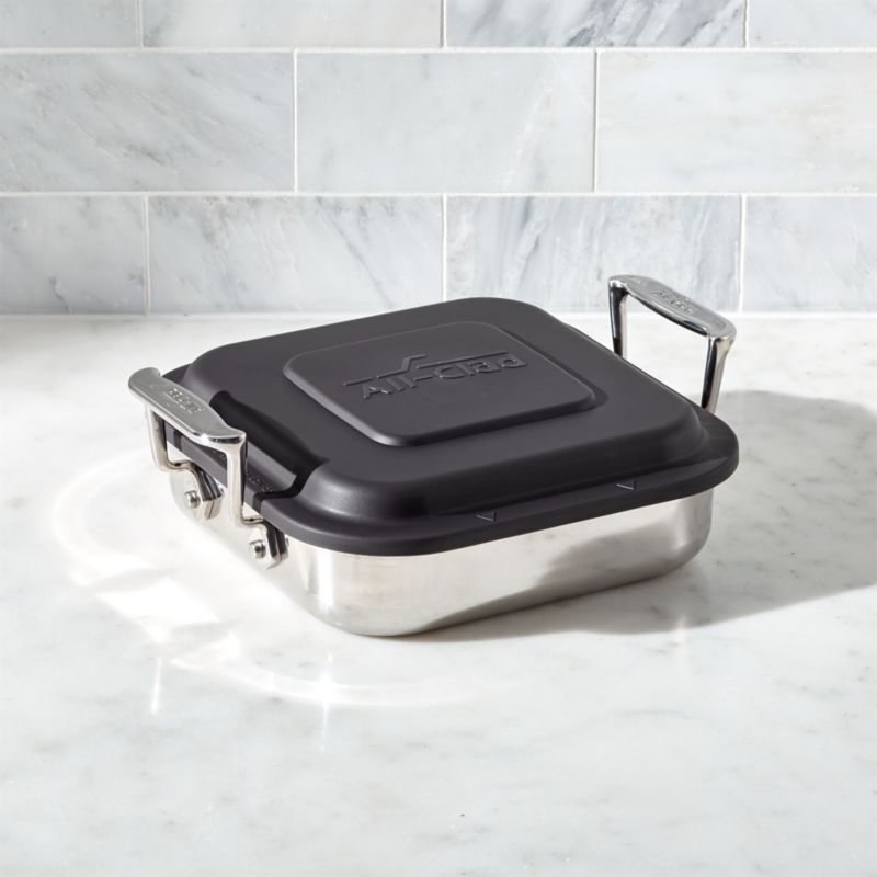 All Clad Square Baker With Lid Reviews Crate And Barrel