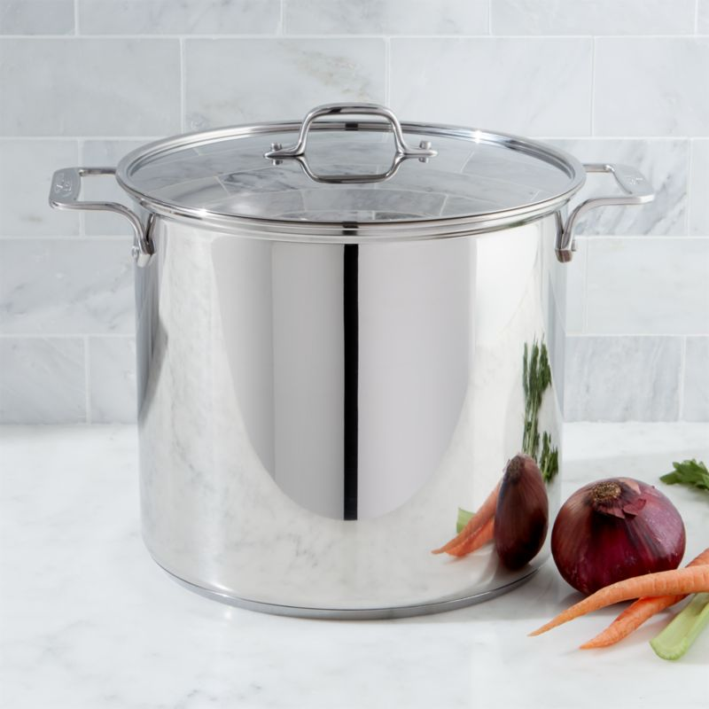 All Clad Stainless Steel 16 Qt Stock Pot With Lid