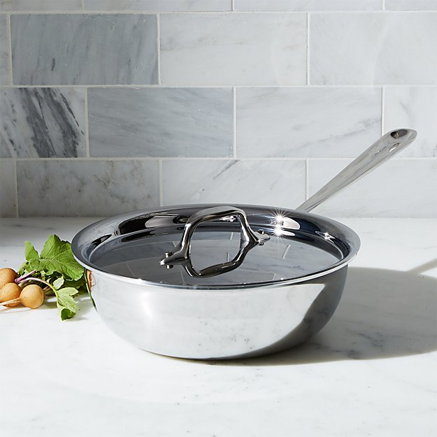 All Clad D3 Stainless 4 Qt Weeknight Pan With Lid