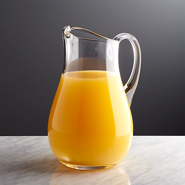All Purpose Clear Glass Pitcher + Reviews | Crate and Barrel