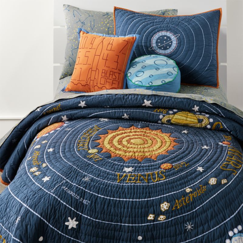 Kids Blue Solar System Bedding Crate And Barrel