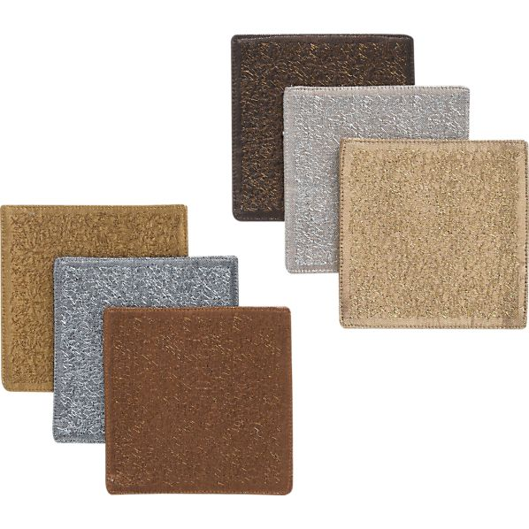 Set of 6 Allegro Metallic Coasters