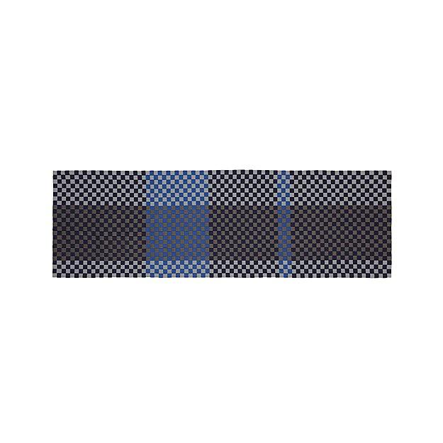 Allta blue indoor outdoor 2 5 39 x8 39 rug runner crate and for Cb2 indoor outdoor rug