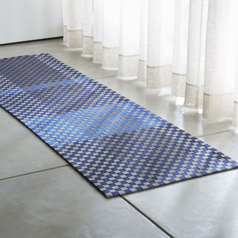 Blue rug runners rugs ideas for Indoor outdoor runners rugs