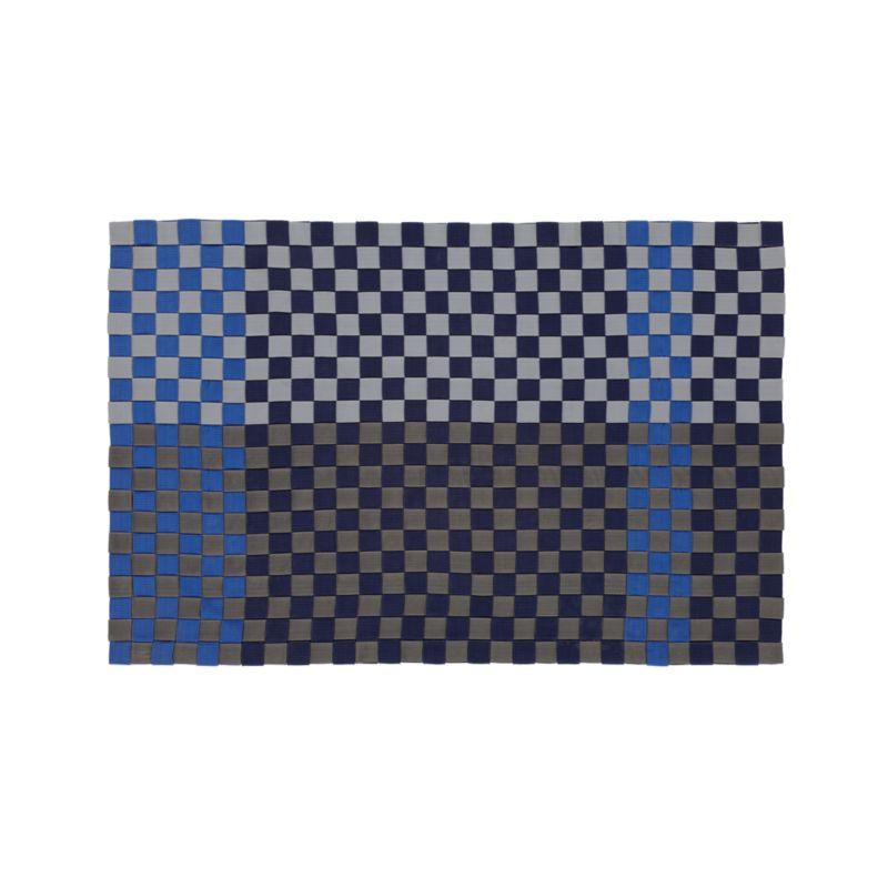 Allta blue indoor outdoor 2 39 x3 39 rug crate and barrel for Cb2 indoor outdoor rug