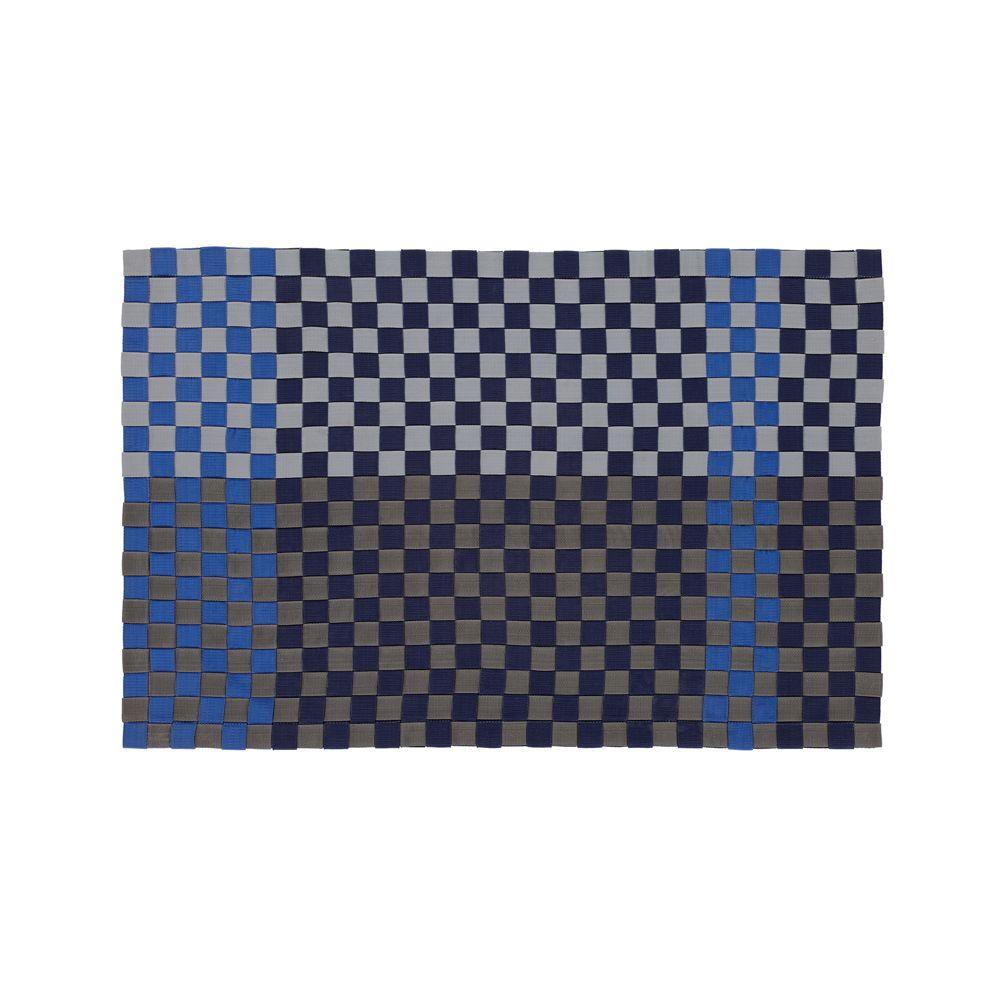 Allta Blue Indoor/Outdoor 2'x3' Rug - Crate and Barrel