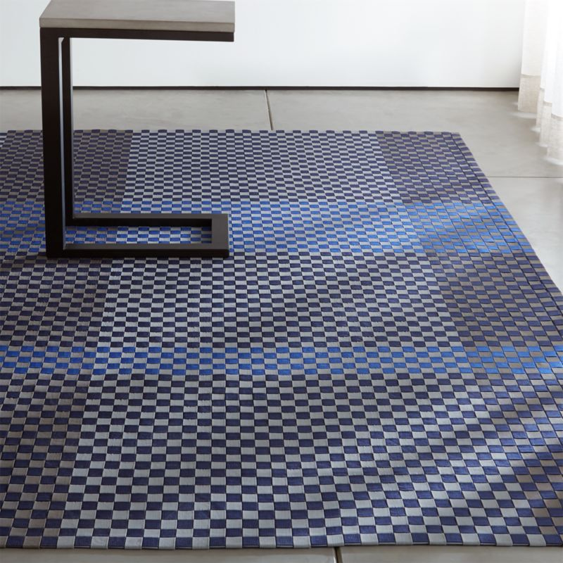 Allta Blue Indoor/Outdoor Rug - Outdoor Rugs And Door Mats Crate And Barrel