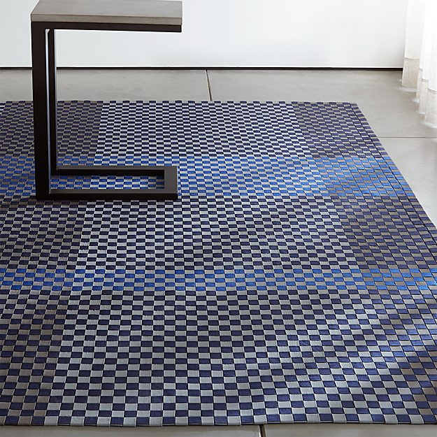 Allta Blue Indoor/Outdoor Rug | Crate and Barrel | title