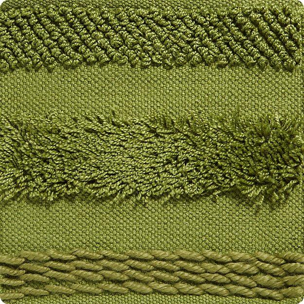 Alma Green Fringe Indoor/Outdoor Rug Swatch - Image 1 of 3