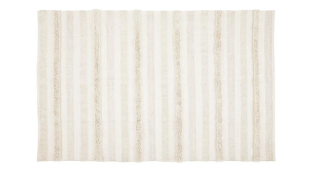 Alma Ivory Fringe Indoor/Outdoor Rug 6'x9' - Image 1 of 4