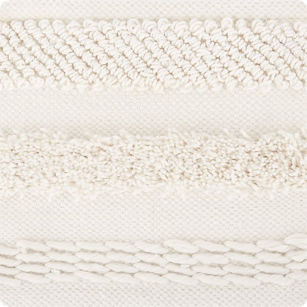 Alma Ivory Fringe Indoor/Outdoor Rug Swatch - Image 1 of 5