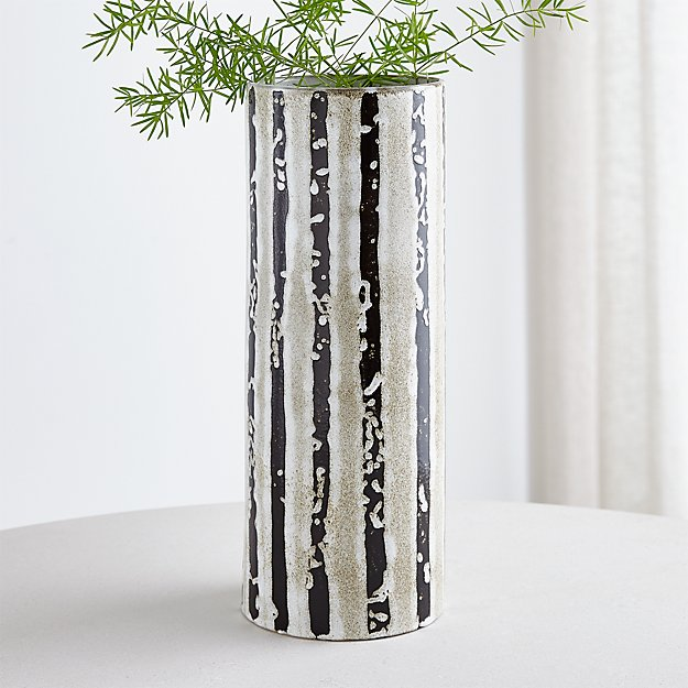 Alondra Striped Vase Reviews Crate And Barrel