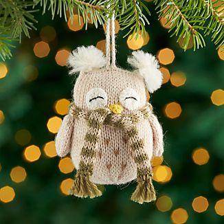 Alpaca Owl Ornament with Scarf
