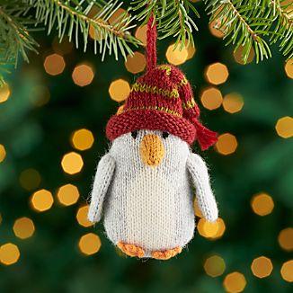 Alpaca Penguin Ornament with Hat