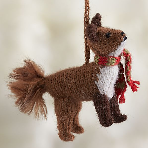 Alpaca Woodland Fox Ornament