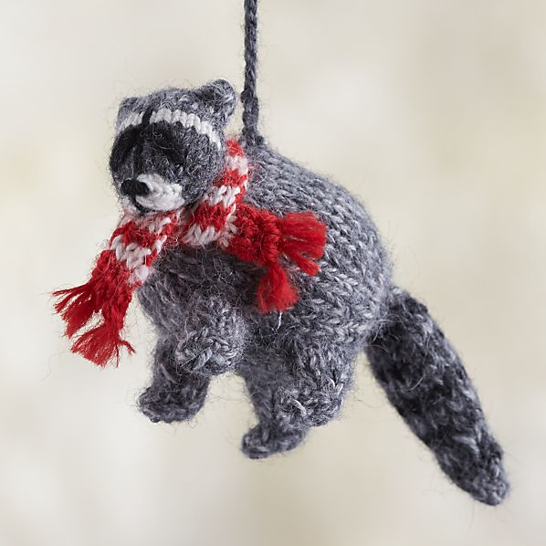 Alpaca Woodland Raccoon Ornament