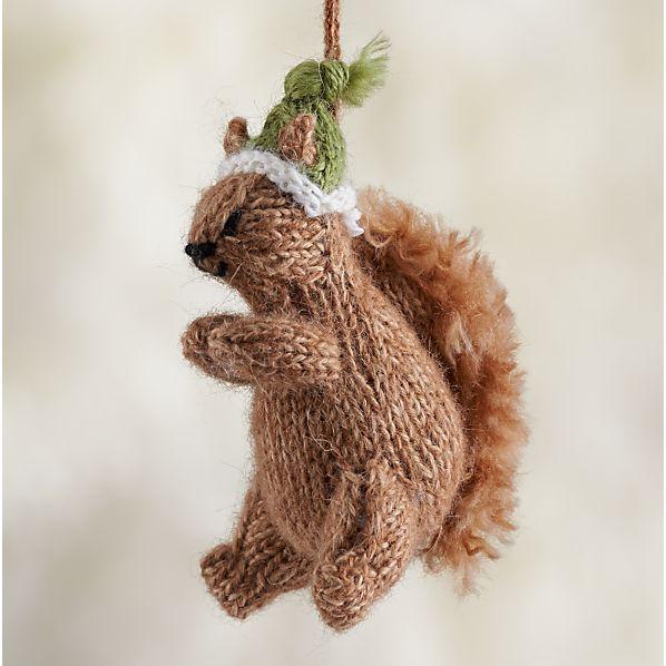 Alpaca Woodland Squirrel Ornament