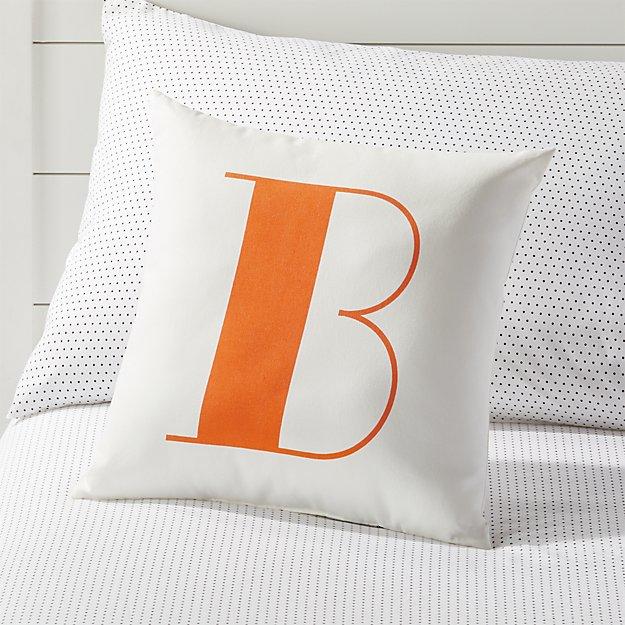 B Alphabet Throw Pillow Reviews Crate And Barrel