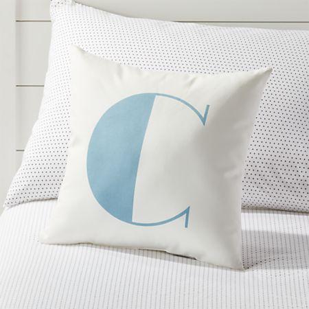 C Alphabet Throw Pillow Reviews Crate And Barrel