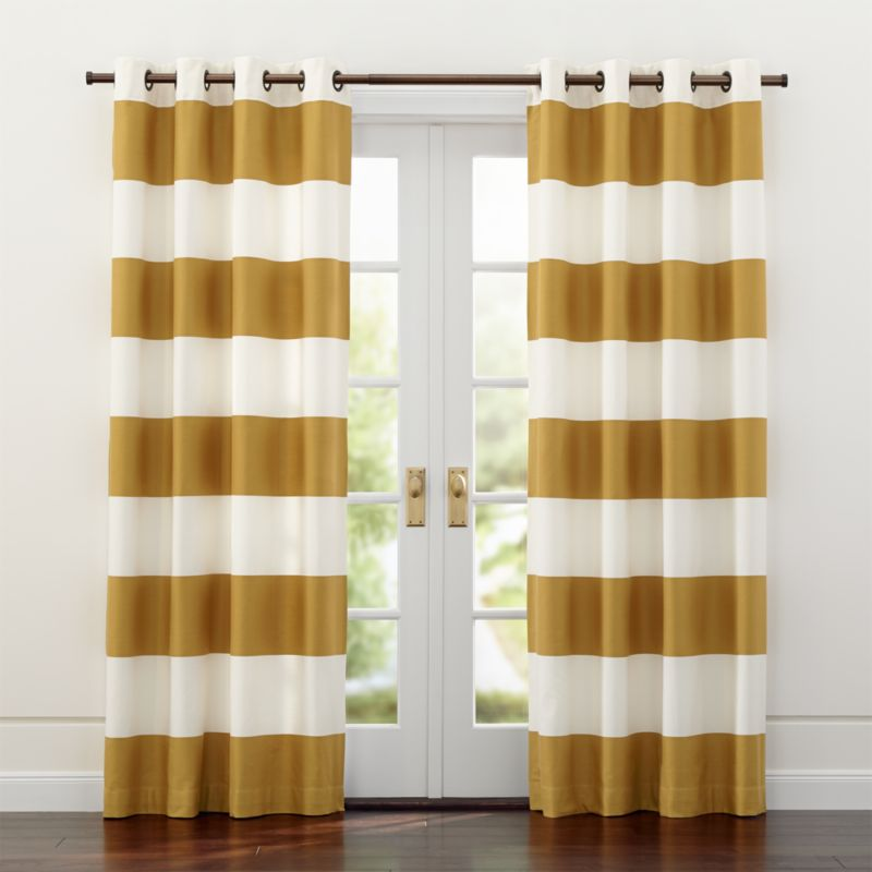 Alston IvoryGold Curtains Crate And Barrel