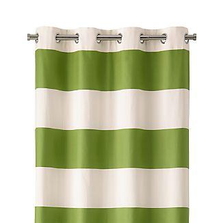 "Alston 50""x84"" Ivory/Green Striped Curtain Panel"