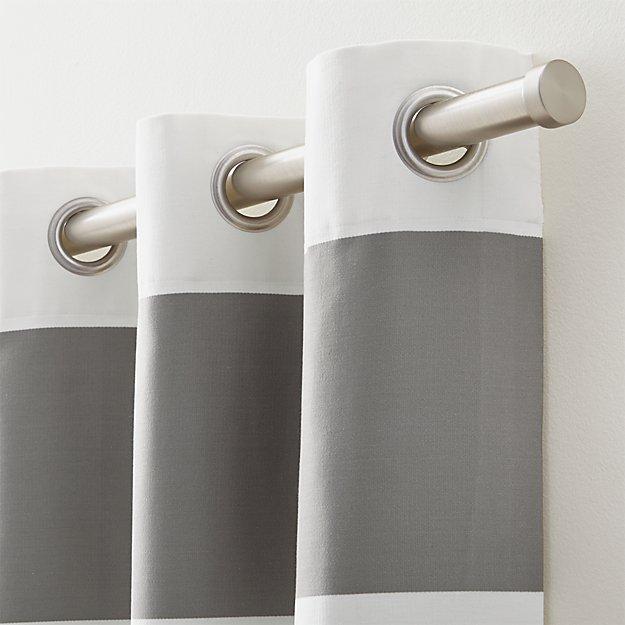 Cb Matte Nickel 120 Quot 170 Quot Double Hanging Curtain Rod Set