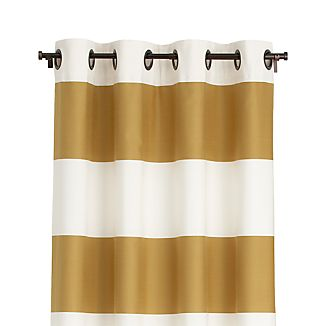 "Alston Ivory/Gold 50""x96"" Curtain Panel"