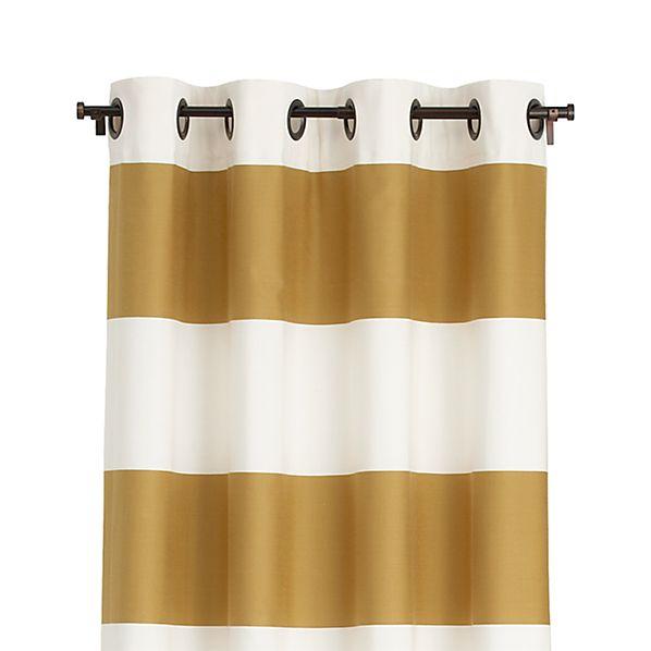 "Alston Ivory/Gold 50""x96"" Curtain Panel"