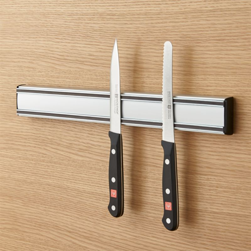 magnet for kitchen knives wusthof magnetic knife holder crate and barrel 20514