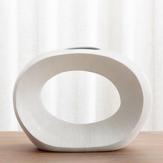 Alura Cream Open Vase Reviews Crate And Barrel