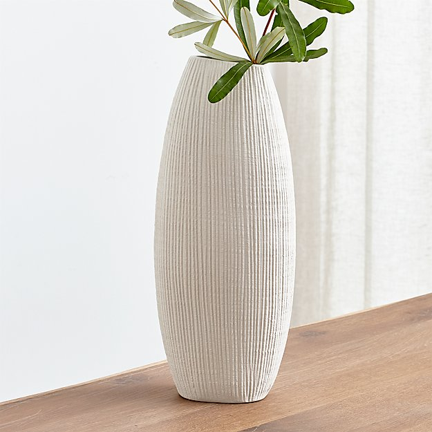 Alura Cream Tall Vase Reviews Crate And Barrel