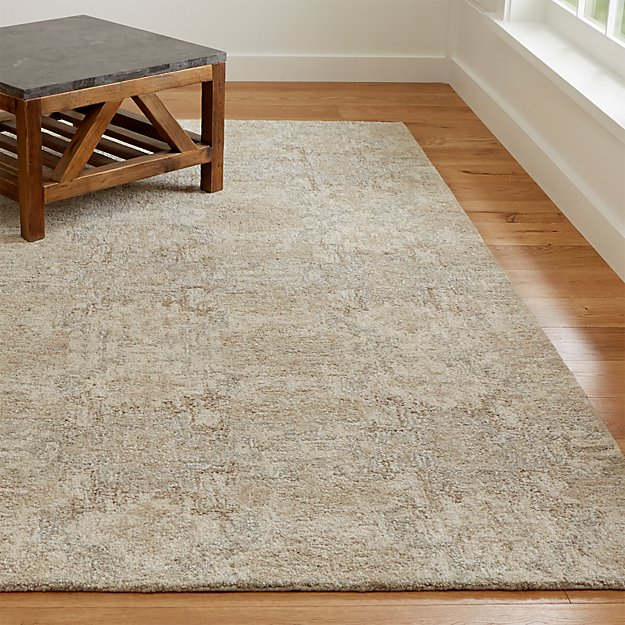Alvarez Cream Hand Tufted Rug Crate And Barrel
