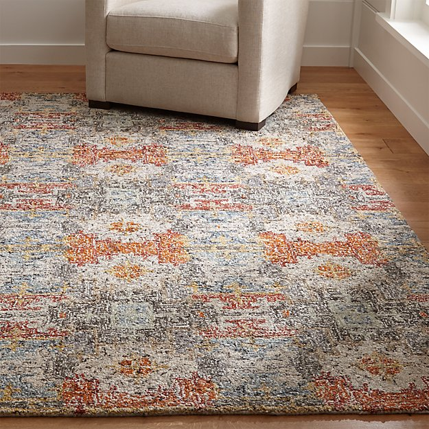 Alvarez Garden Wool Blend Rug Crate And Barrel