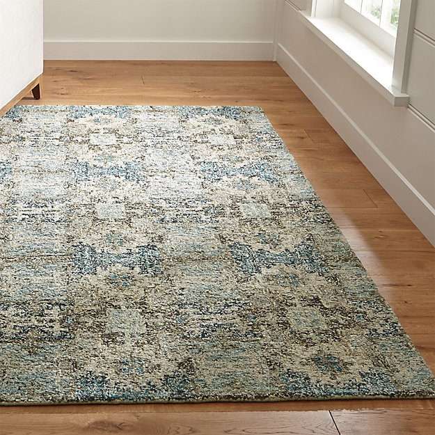 Alvarez Mineral Blue Wool Blend Rug Crate And Barrel