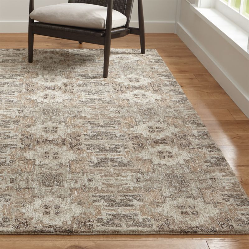 Captivating Alvarez Natural Hand Tufted Rug