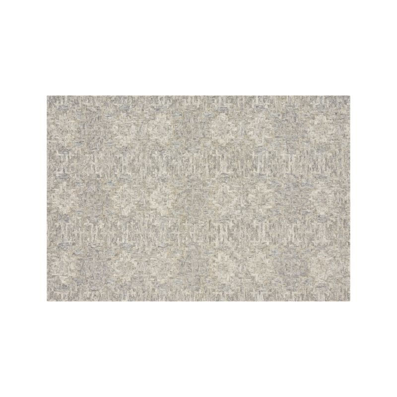 Alvarez 6x9 Grey Patterned Rug Reviews Crate And Barrel