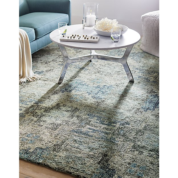 Alvarez Mineral Blue Hand Tufted Rug 6 X9 In Area Rugs