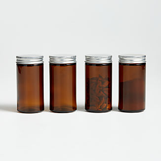 Amber Spice Preserving Jars, Set of 4