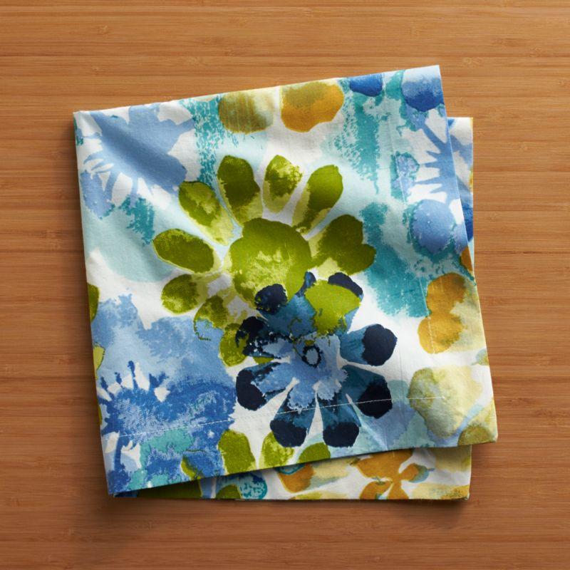 Blossoms burst forth in bold combinations with a rich watercolor effect in layered shades of tonal brights.<br /><br /><NEWTAG/><ul><li>100% cotton</li><li>Do not bleach or dry clean</li><li>Machine wash cold, tumble dry; warm iron as needed</li><li>Made in India</li></ul>