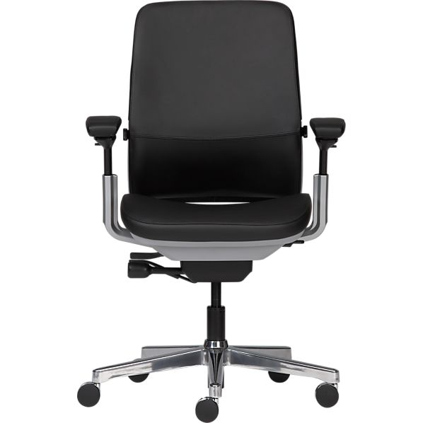 Steelcase ® Amia in Design ™ Black Leather Office Chair