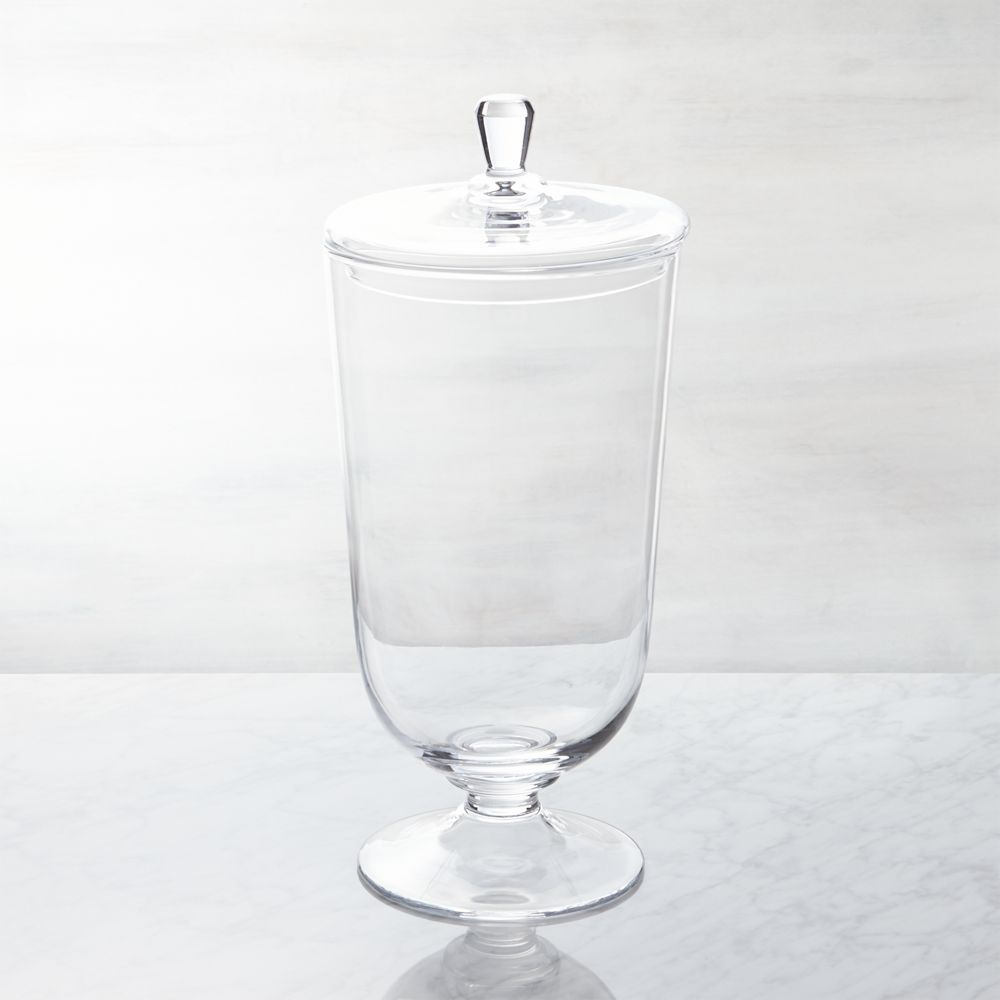 Anastasia Large Covered Jar - Crate and Barrel
