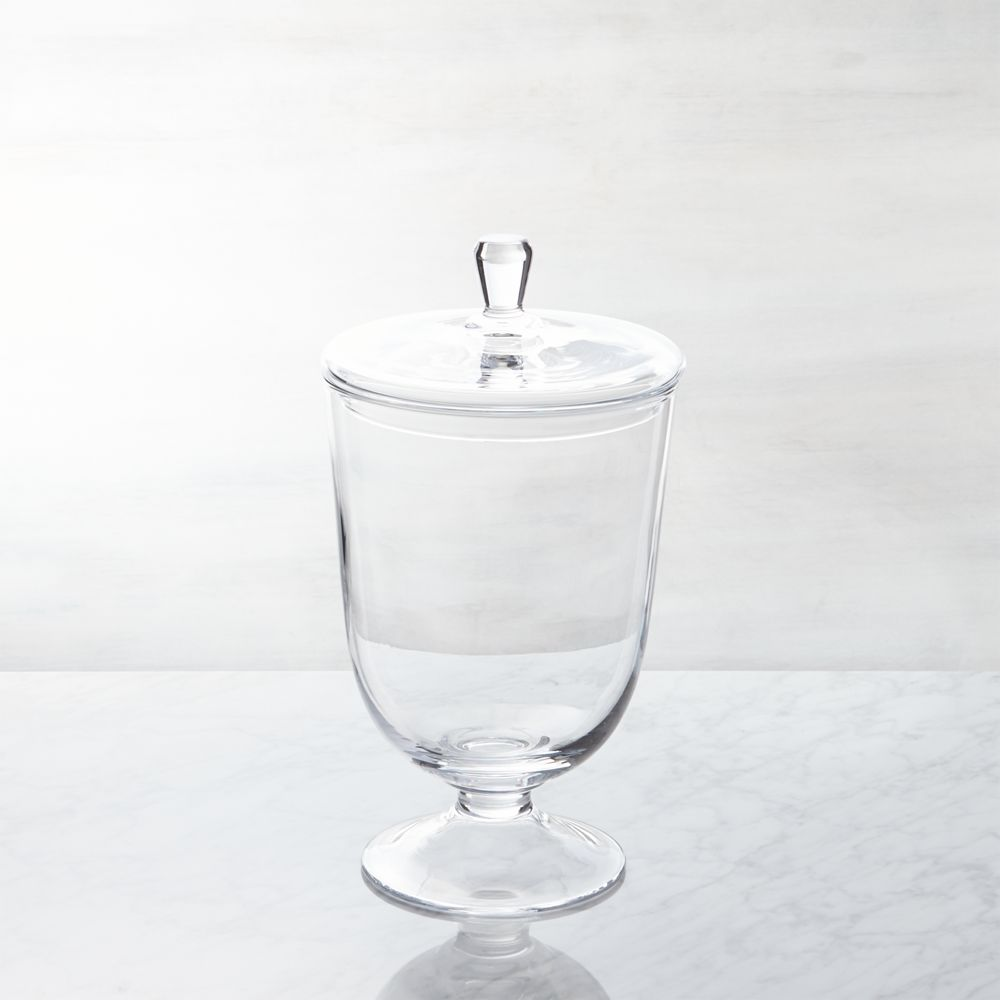 Anastasia Small Covered Jar - Crate and Barrel
