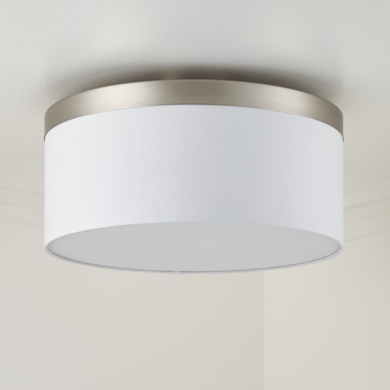 Anders Brushed Nickel Drum Flush Mount