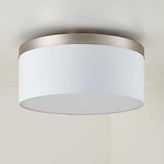 Anders Brushed Nickel Drum Flush Mount Light