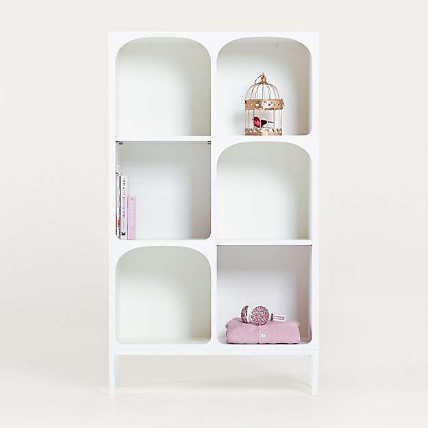 Anders White Cube Bookcase with Legs - Image 1 of 5