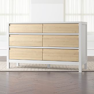 White Wood Dressers Crate And Barrel